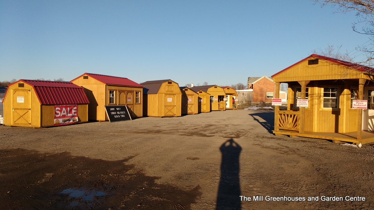 The Mill Greenhouses and Garden Centre sheds by Old Hickory Buildings